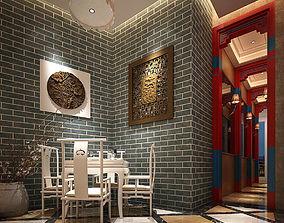 3D Business Restaurant - Coffee - Banquet 125