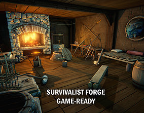 Medieval survivalist forge 3D model