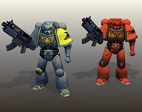 Space Marines Rigged 3D model VR / AR ready
