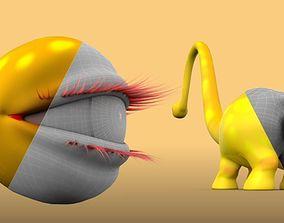 3D model Ass and eyes