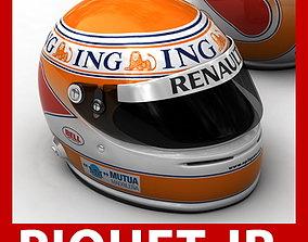 Helmet F1 2009 Nelson Piquet Jr Nelsinho 3D