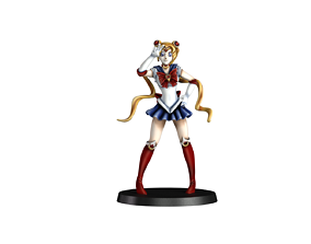 Sailor moon fan art 32mm 3D print model