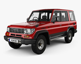 3D model Toyota Land Cruiser Prado Station Wagon SX 1993