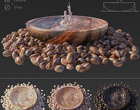 3D Water Bowl Fountain