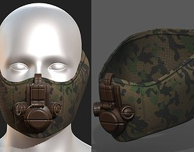Gas mask game-ready 3