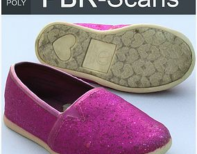 Shoe Middle Poly 3D PBR