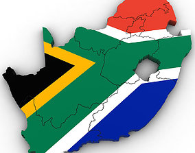 3d Political Map of South Africa