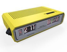 Clock Radio 3D asset