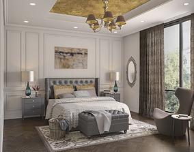 Bedroom Interiors Scene 07 3D model