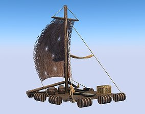 Raft -Low poly 3D asset