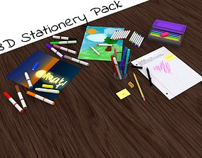 Stationery Pack - Game and Animation Ready 3D asset