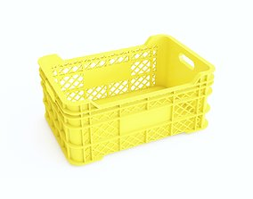 Plastic crate 10 3D