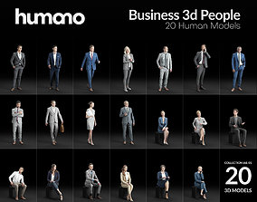 Humano 20-Collection 01- OFFICE BUSINESS PEOPLE - 20x 3D