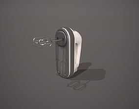 3D model White Hand Mixer - Whisk