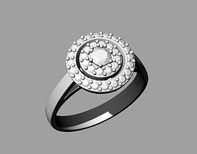 3D printable model ring with reflector with diamonds