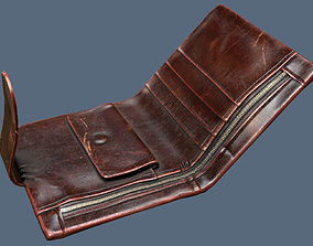 Shabby Wallet Low Poly 3D Model low-poly