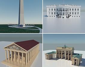 3D asset Landmarks Collection V1