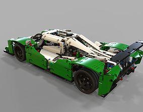 detail Lego race car 3D