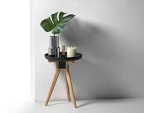 3D model Flip Around Chair with Vase and Ecoya