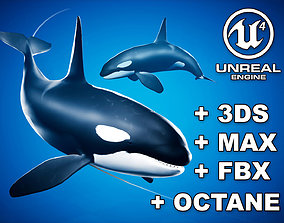 3D asset Orca Killer Whale - Animated - Octane Support