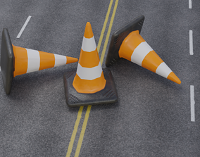 3D asset Traffic Cone - Game Ready