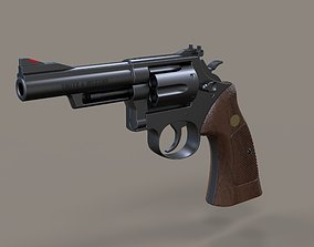 3D Revolver Smith and Wesson Model 19 1989