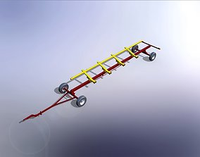 30 ft combine header trolley 3D model