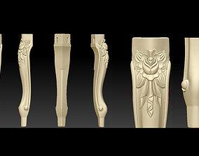 Furniture Legs 3d STL Model Relief for CNC set 1