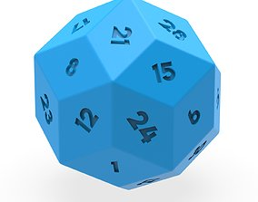 3D printable model 30 Facet Dice