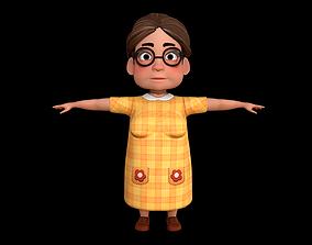 Character-Cartoon-Grandmother- Indian-Rig 3D