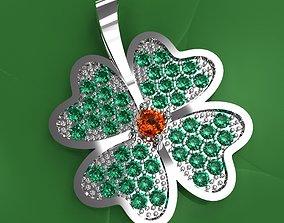 Set Of Lucky Clover Pendants 3D print model
