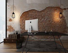 3D office-desk Furniture set