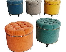 Soft padded stool Grosseto 3D model