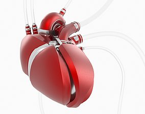 Cyber Heart with animation 3D