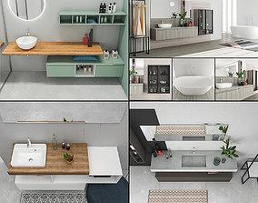 Bathroom furniture collection 7 3D model
