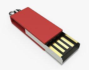 3D model Flash drive USB 02
