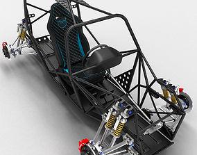 3D model Sports Car Skeleton