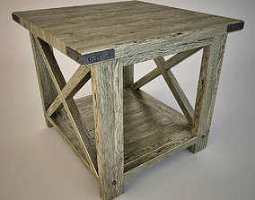 3D model Rustic X End Table
