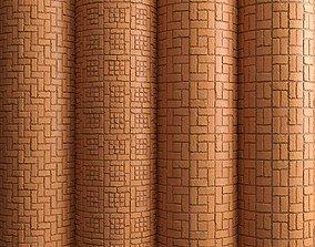 3D Materials 12- Brick Tiles PBR in 4 Patterns Texture