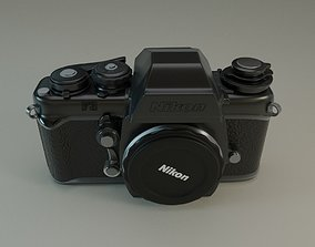 Nikon F3 SLR Photocamera 3D PBR