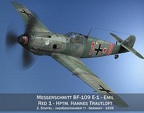 3D Messerschmitt - BF-109 E - Red 1