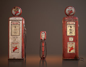 3D model Old Gas And Air Pumps