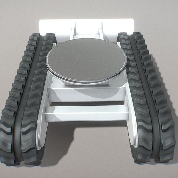 Rigged Rubber Track Chassis Version 2 - High-Poly