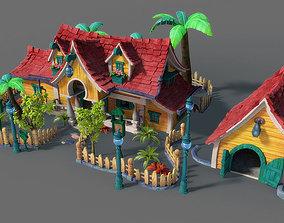 Cartoon House 3D fungus