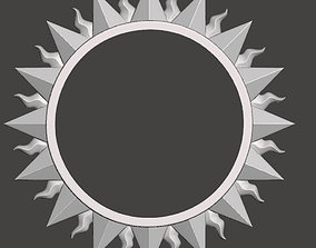 Sun shaped frame for mirrors or pictures - 3d model for
