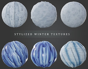 3D Stylized Winter Texture Pack