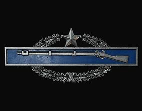 3D asset realtime Combat Infantryman Badge