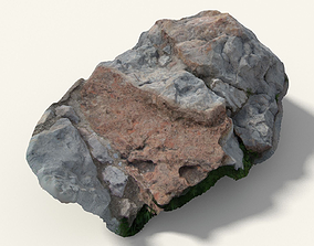 3D Scanned Bright Rock Formation