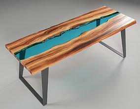 Epoxy resin table 3D model