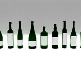Bottles Collection Set 3D Model
